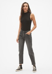 Gap High Rise Girlfriend Jeans with Raw Hem