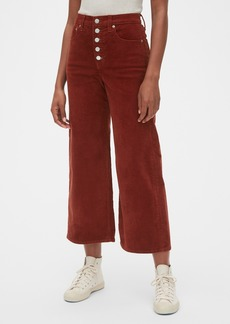 Gap High Rise Button-Fly Wide-Leg Ankle Cords