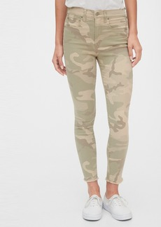 Gap High Rise Camo True Skinny Ankle Jeans with Secret Smoothing Pockets