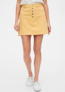 Gap High Rise Denim Skirt