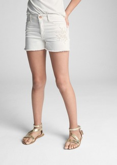 Gap High Rise Embroidery Shorty Shorts