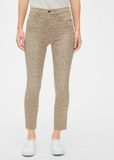 Gap High Rise Leopard Print True Skinny Ankle Jeans with Secret Smoothing Pockets