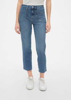 Gap High Rise Mariner Cheeky Straight Jeans