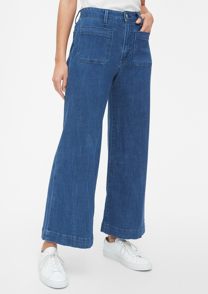 High Rise Mariner Wide-Leg Jeans