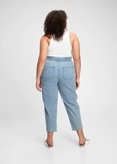 Gap High Rise Paperbag Jeans With Washwell&#153