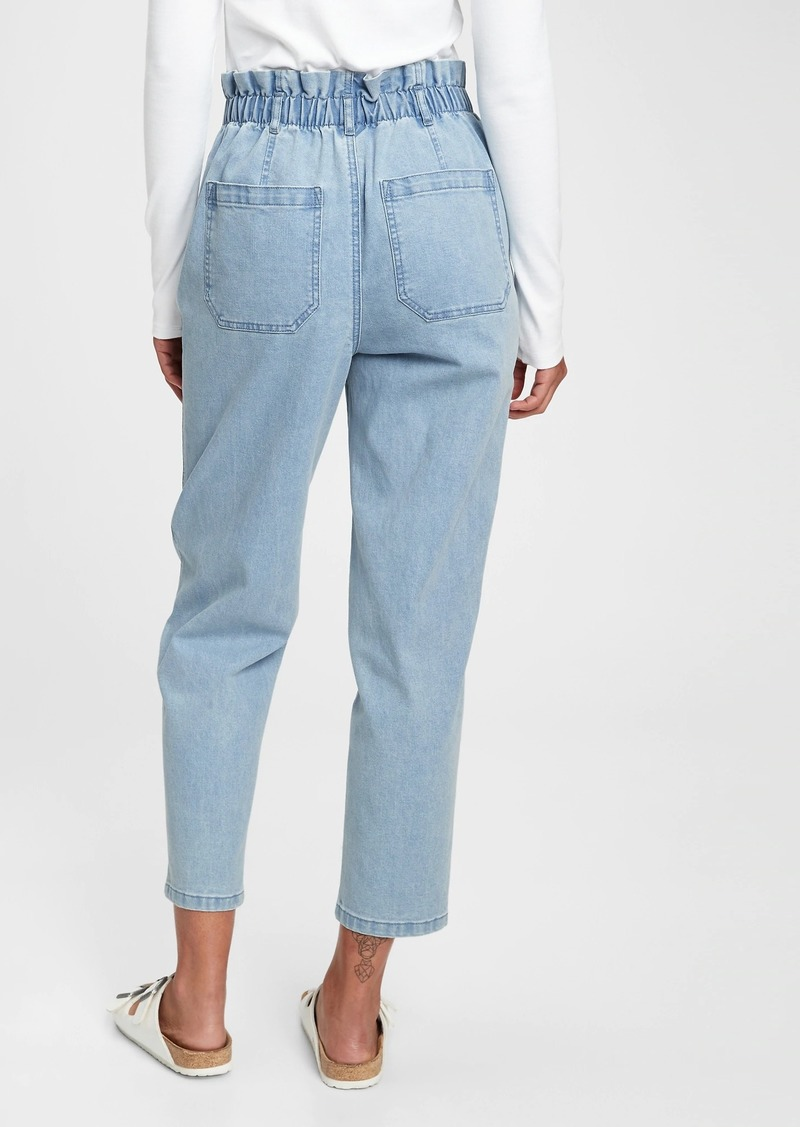 High Rise Paperbag Jeans