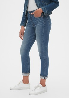 Gap High Rise Selvedge Cigarette Jeans