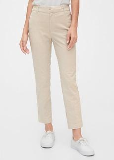 Gap High Rise Slim Ankle Seersucker Pants