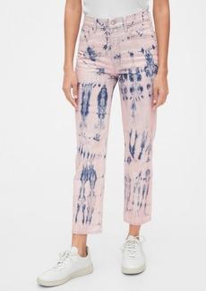 Gap High Rise Tie-Dye Cheeky Straight Jeans