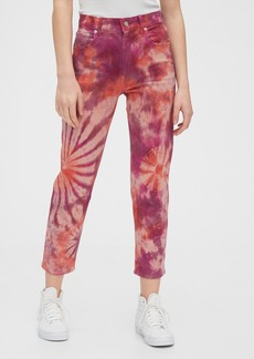 Gap High Rise Tie-Dye Cheeky Straight Jeans with Secret Smoothing Pockets