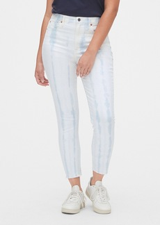 Gap High Rise Tie-Dye True Skinny Jeans with Secret Smoothing Pockets
