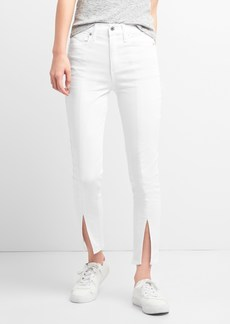 Gap Super High Rise True Skinny Ankle Jeans with Slit Hem