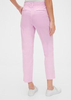 Gap High Rise Utility Khaki Pants with Raw Hem