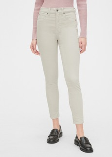 Gap High Rise Velvet True Skinny Ankle Jeans with Secret Smoothing Pockets
