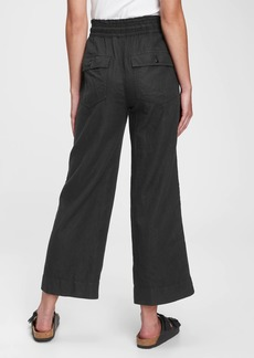 Gap High Rise Wide-Leg Pants in Linen-Cotton with Washwell&#153