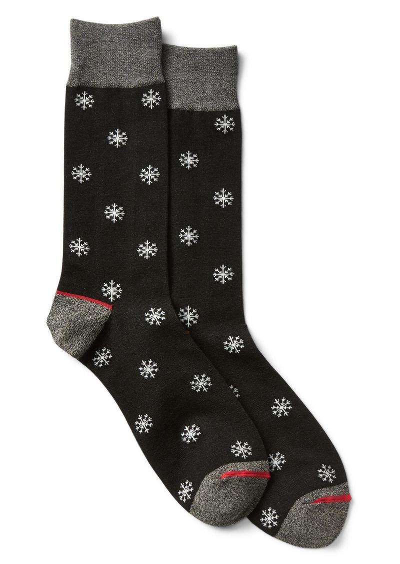 Gap Holiday print crew socks