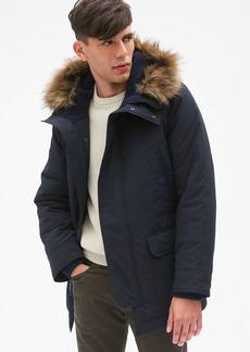 Gap Hooded Parka Jacket with Faux-Fur Trim