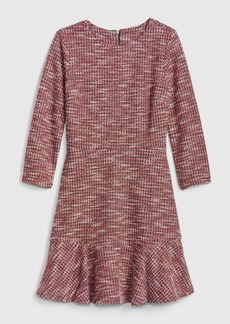 Gap Houndstooth Fit and Flare Flutter Dress