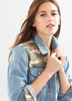 Icon camo denim jacket