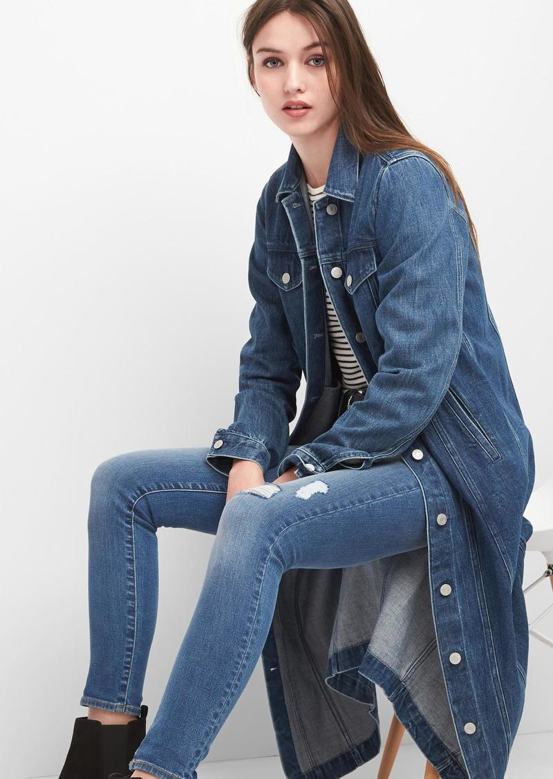 On Sale Today Gap Icon Denim Duster Jacket