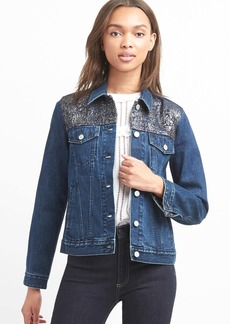 Icon metallic denim jacket