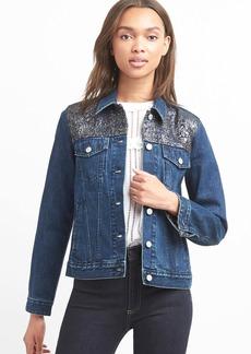 Icon metallic denim jacket