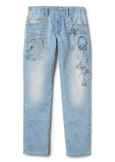 Gap Indestructible Superdenim Graffiti Slim Jeans