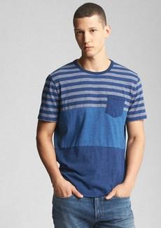Gap Indigo Mix-Stripe Pocket T-Shirt