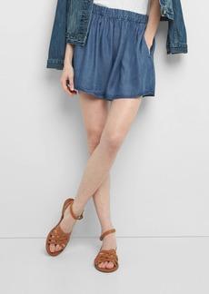 Gap Indigo TENCEL&#153 flutter shorts
