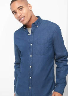 Gap Indigo twill slim fit shirt