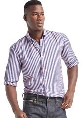 Gap Indigo twill stripe standard fit shirt