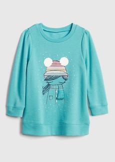 Gap Interactive Graphic Tunic Sweatshirt in Fleece