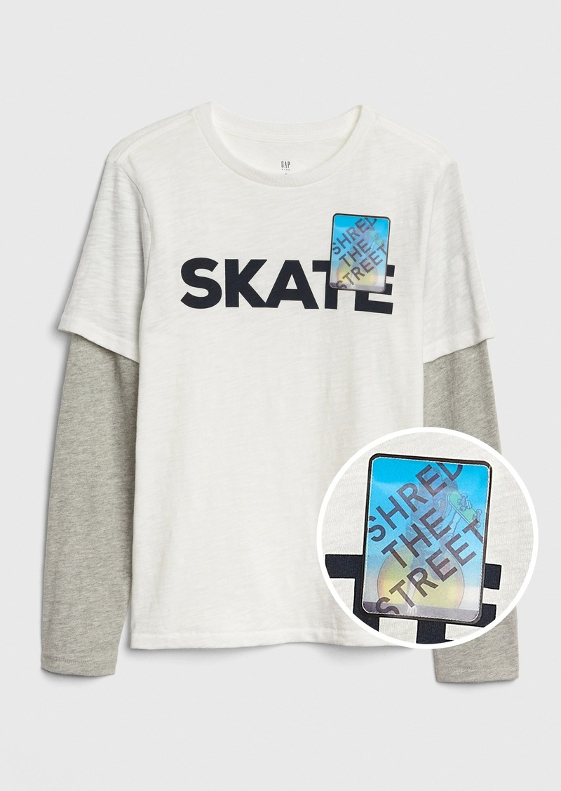 Gap Kids 3D Graphic Layered T-Shirt