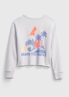 Gap Kids Boxy Graphic Crewneck Sweatshirt