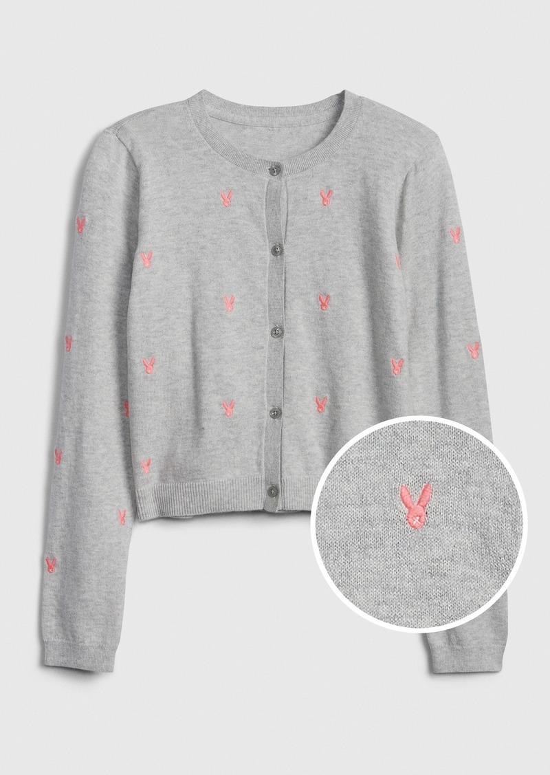 Gap Kids Bunny Cardi Sweater