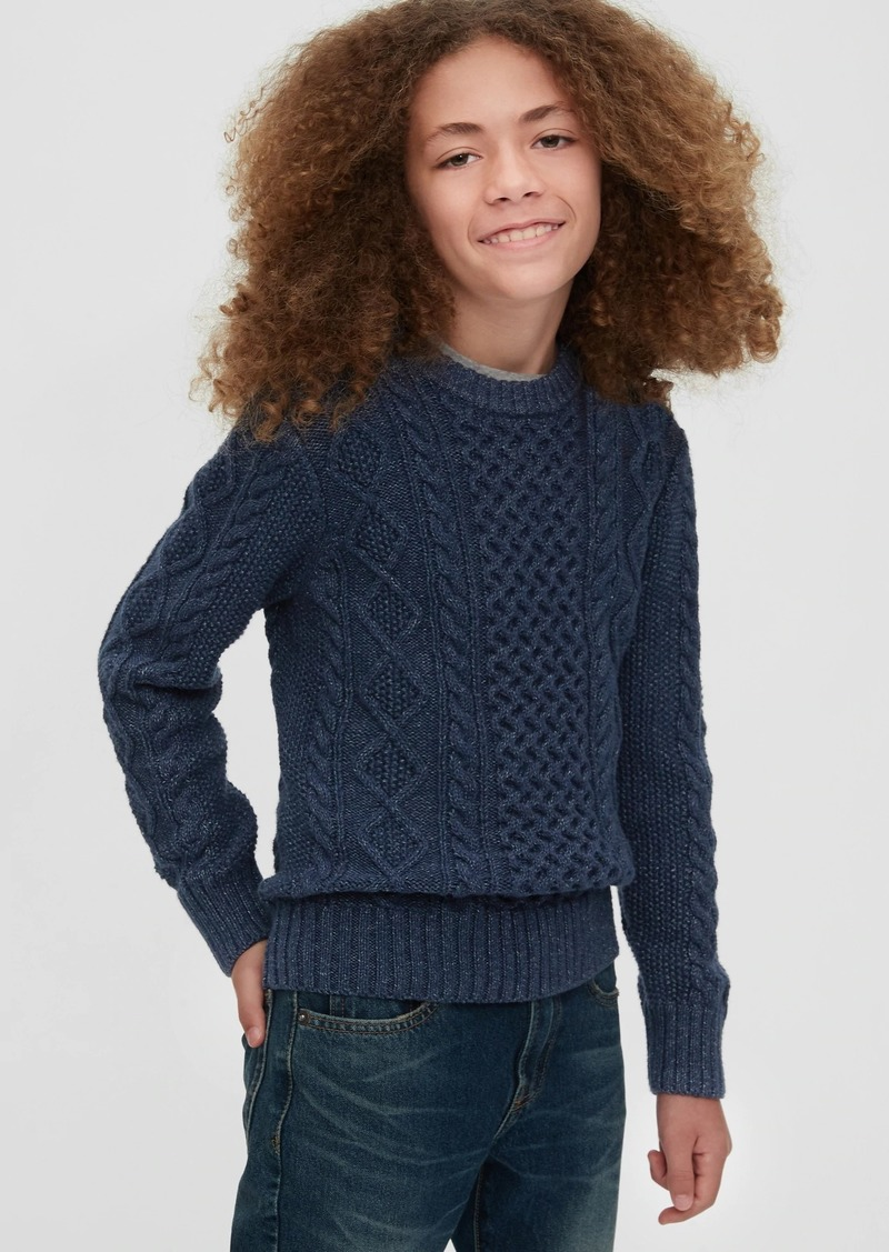 Gap Kids Cable Knit Crewneck Sweater