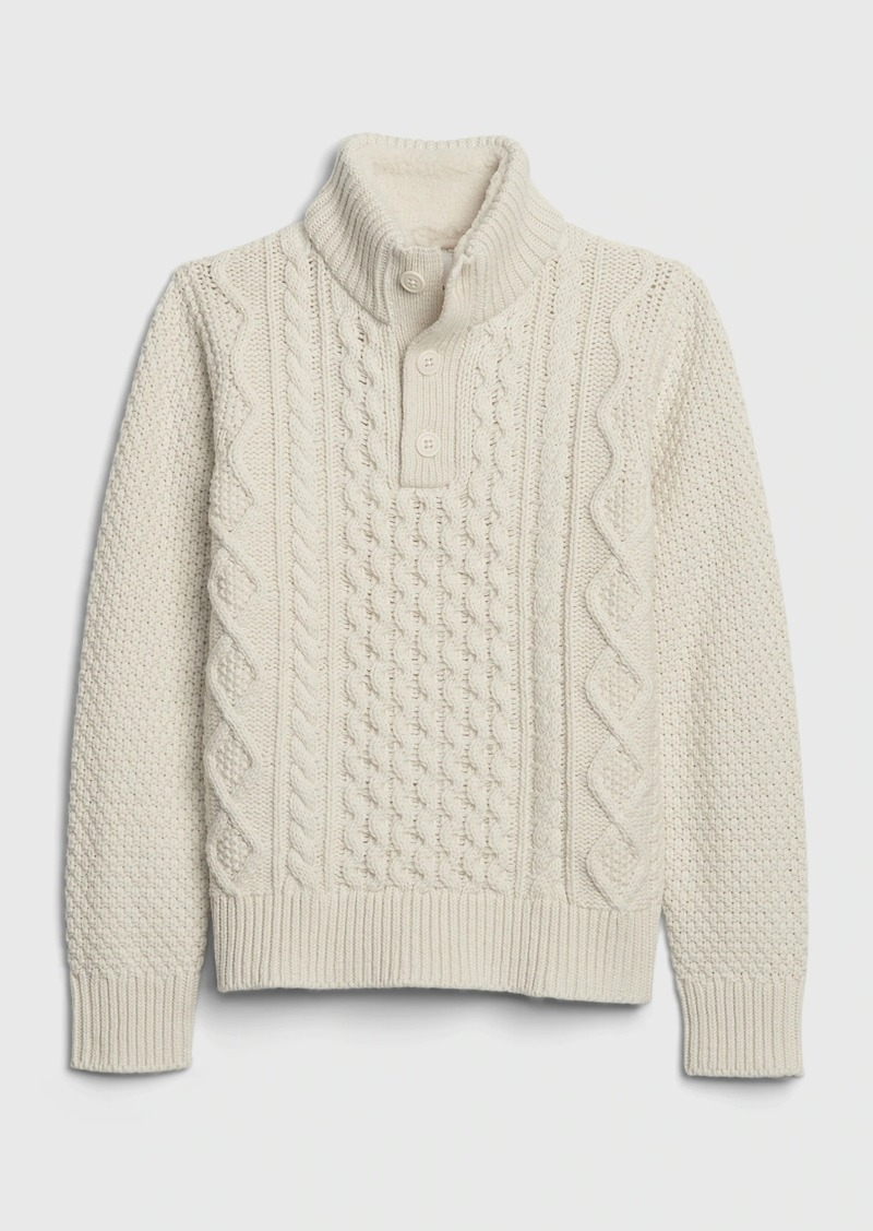 Gap Kids Cable Knit Mockneck Sweater