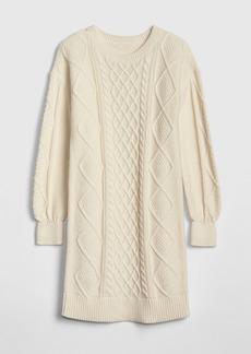 Gap Kids Cable-Knit Sweater Dress