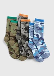 Gap Kids Camo Crew Socks (3-Pack)