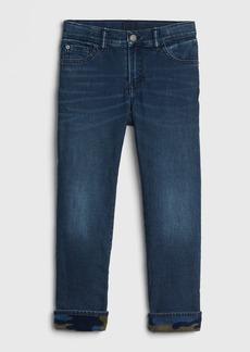 Gap Kids Camo Fleece-Lined Straight Jeans