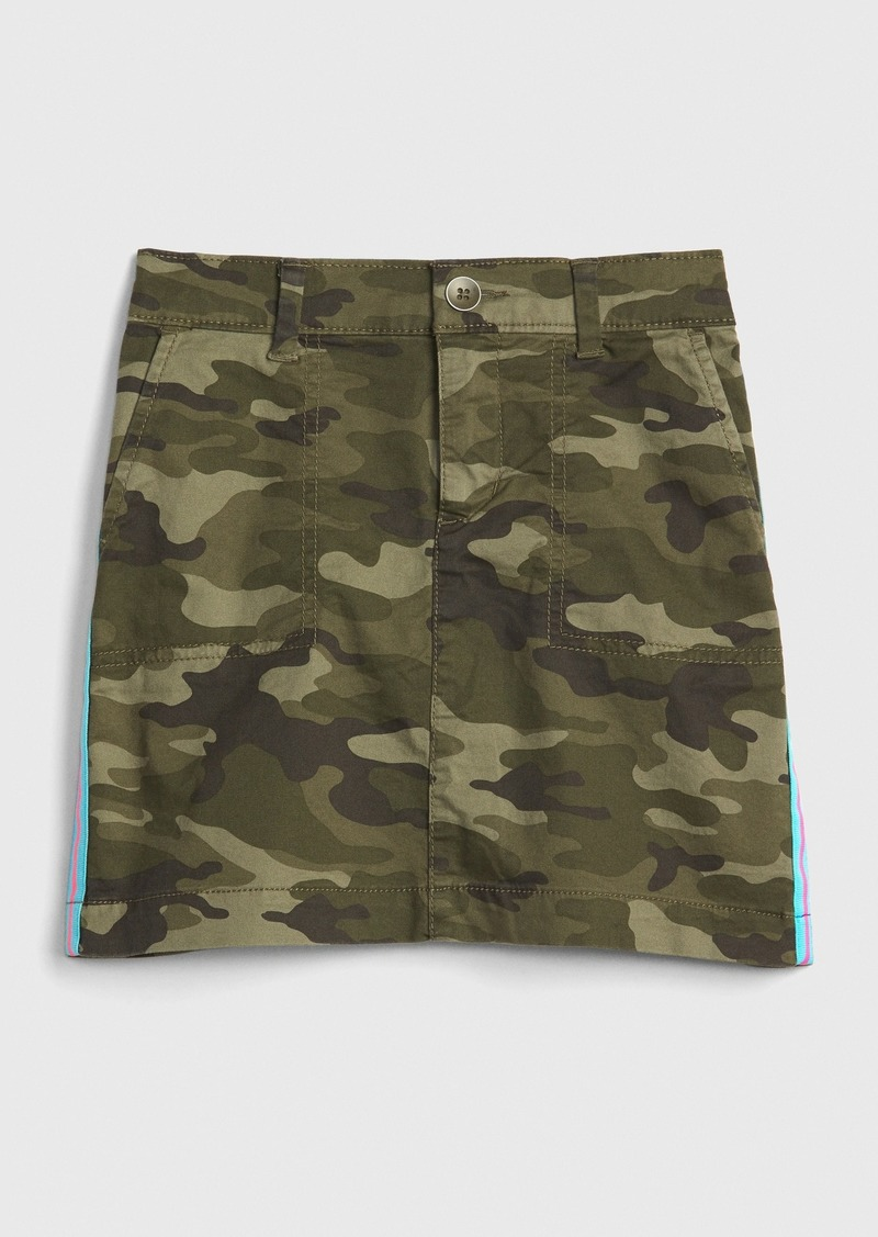 Gap Kids Camo Side-Stripe Skirt