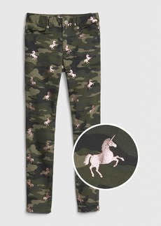 Gap Kids Camo Unicorn Super Skinny Jeans with Fantastiflex