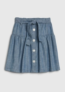 Gap Kids Chambray Button-Front Skirt
