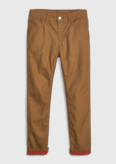 Gap Kids Cozy-Lined Straight Jeans with Fantastiflex