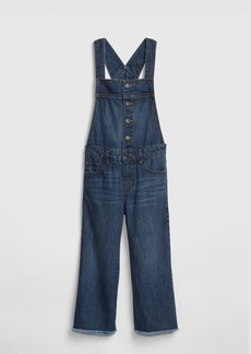 Gap Kids Crop Wide-Leg Overalls