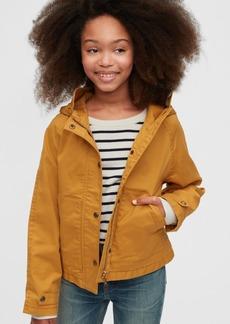 Gap Kids Cropped Utility Jacket with Stretch