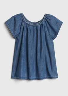 Gap Kids Denim Flutter Top