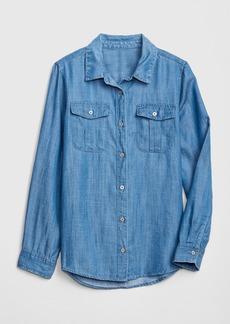 Gap Kids Denim Long Sleeve Shirt