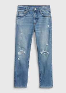 Gap Kids Destructed Athletic Fit Jeans with Stretch