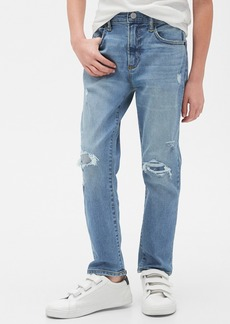 Gap Kids Destructed Athletic Taper Jeans with Washwell&#153